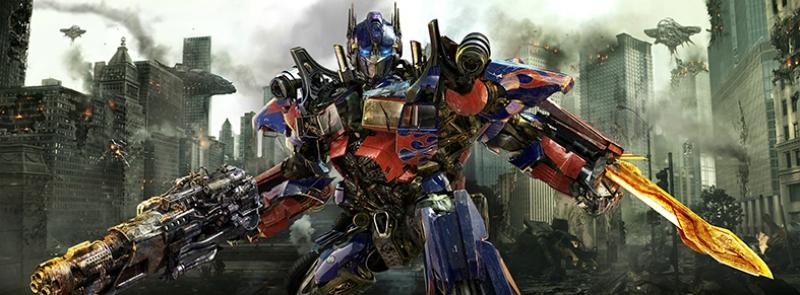 Transformers Optimus Prime Panaromik Süper Kahramanlar Kanvas Tablo