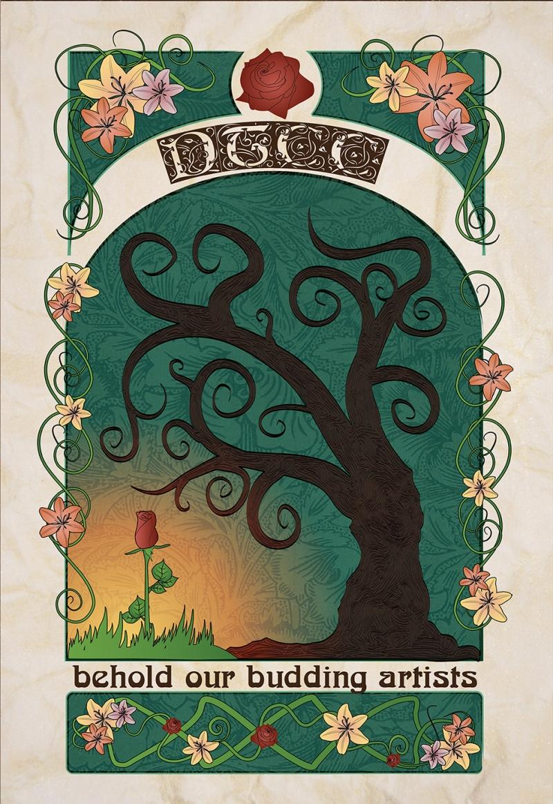 Tree Poster Retro & Motto Kanvas Tablo