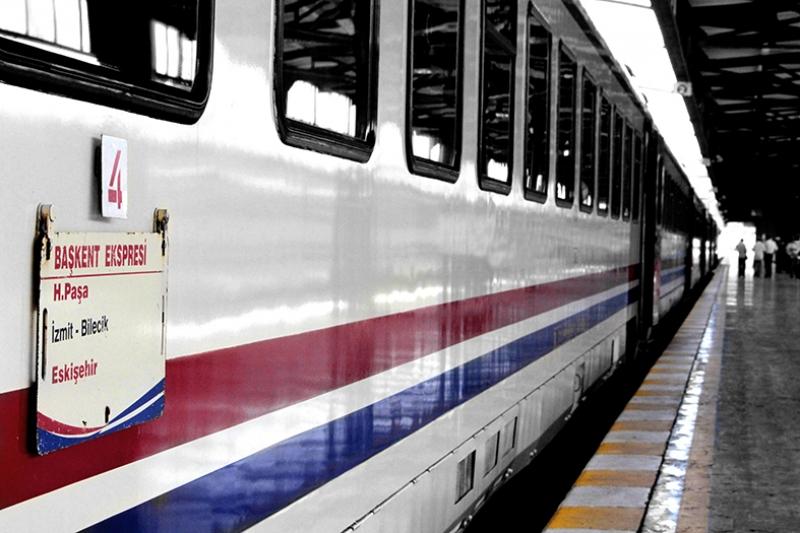 Tren Demiryolu Ekspres Eskiler Kanvas Tablo