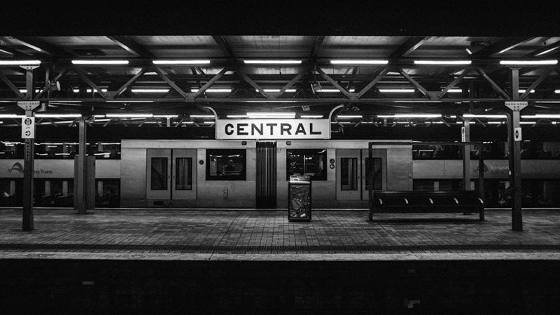Tren İstasyonu Fotoğraf Kanvas Tablo
