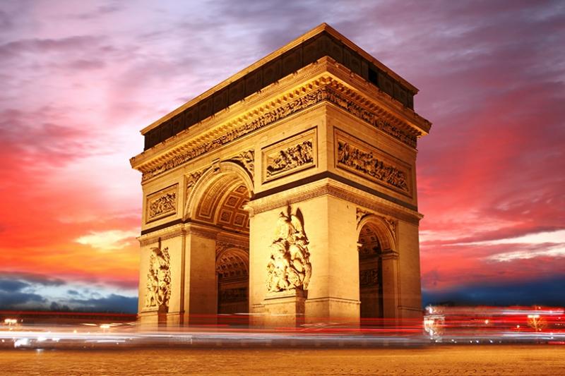 Triumfalnaya Paris Dünyaca Ünlü Şehirler Kanvas Tablo