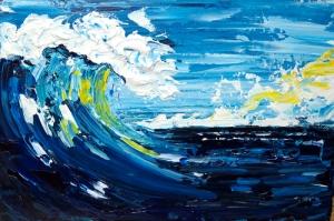Tsunami Dalgaları Modern Sanat Kanvas Tablo