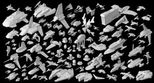 Tüm İmparatorluk Gemileri Star Wars Kanvas Tablo