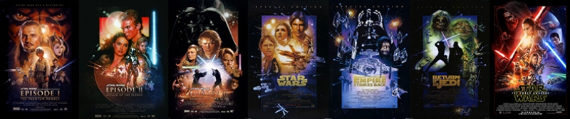 Tüm Posterler Star Wars Kanvas Tablo