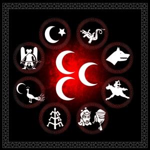 Turan Devletleri, Türk Devletleri-13 Türk Temalı Kanvas Tablo Arttablo