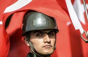 Türk Askeri Mehmetçik Bayrak Kanvas Tablo