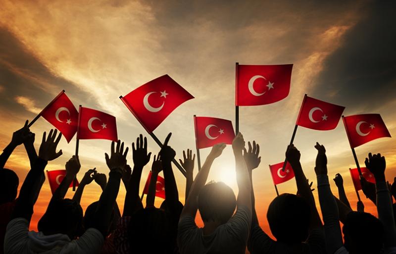 Türk Bayrağı ve Gençlik Kanvas Tablo