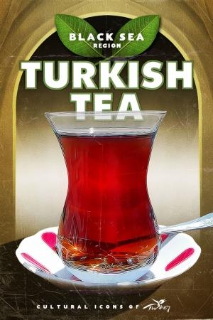 Türk Çayı Şehirler Kanvas Tablo