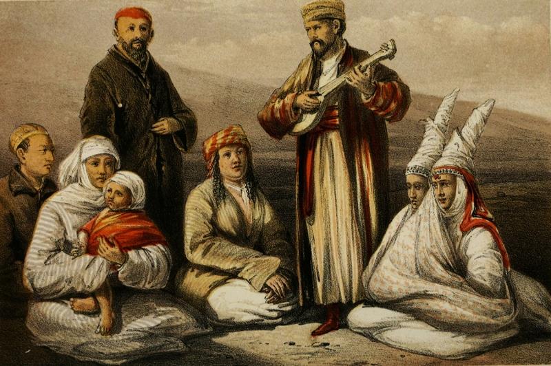 Türk Dünyası, Türk Ozan-3 Kırgız, Orta Asya Türk Sosyal Yaşam Kanvas Tablo