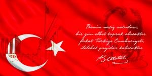 Türkiye Cumhuriyeti Atatürk Kanvas Tablo