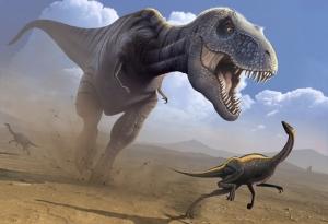 Tyrannosaurus T-rex 2 Hayvanlar Kanvas Tablo