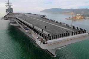 Uçak Gemisi Askeri Kanvas Tablo
