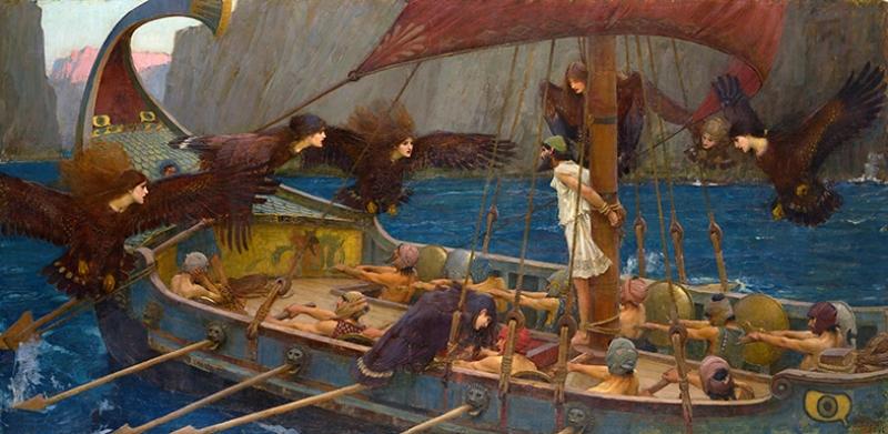 Ulises Y Las Sirenas Yağlı Boya Sanat Kanvas Tablo