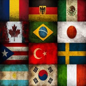 Ülke Bayrakları Vintage-2 Ülke Bayrakları Kanvas Tablo Arttablo