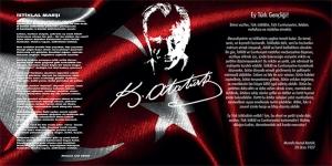 Ulu Önder Atatürk, Gençliğe Hitabe, İstiklal Marşı Kanvas Tablo