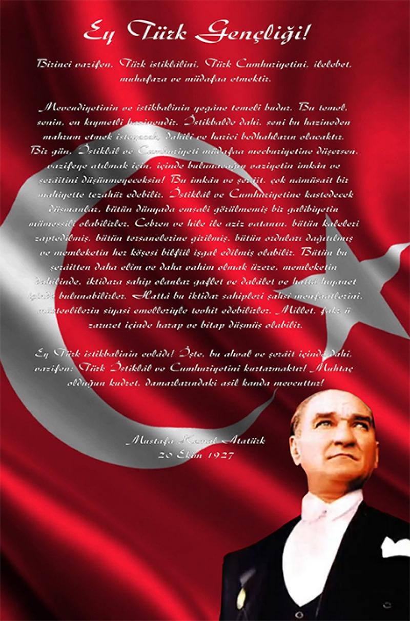 Ulu Önder Atatürk, Gençliğe Hitabe Kanvas Tablo