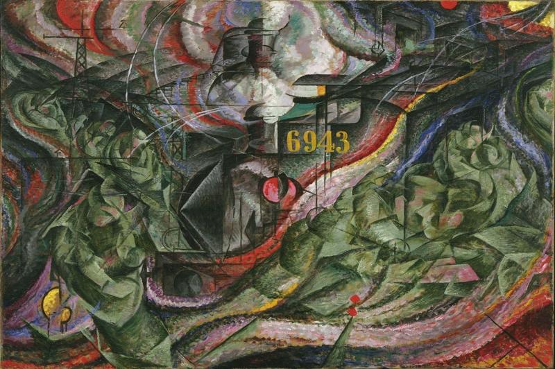 Umberto Boccioni Aklin Evreleri 1 Yagli Boya Klasik Sanat Kanvas Tablo