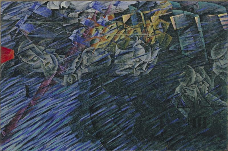 Umberto Boccioni Aklin Evreleri 2 Yagli Boya Klasik Sanat Kanvas Tablo