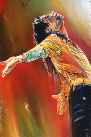 Ünlü Yüzler Michael Jackson Kanvas Tablo