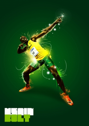 Usain Bolt Kanvas Tablo