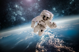 Uzay  Boşluğu ve Astronot Dünya & Uzay Kanvas Tablo