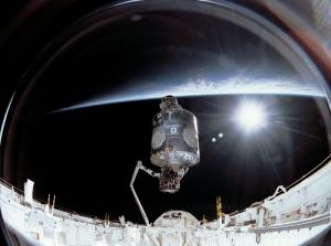 Uzay İstasyonu Dünya & Uzay Kanvas Tablo