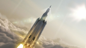 Uzay Mekiği Roket Dünya & Uzay Kanvas Tablo