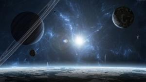 Uzayda Güneş Ötesi Gezegen Patlaması Dünya & Uzay Kanvas Tablo