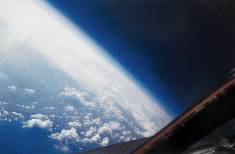 Uzaydan Bulutların Görünümü Dünya & Uzay Kanvas Tablo