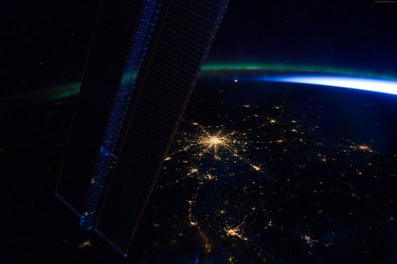 Uzaydan Moskova Görünüm Dünya & Uzay Kanvas Tablo