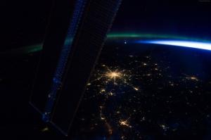 Uzaydan Moskovanın Görünümü Rusya Dünya & Uzay Kanvas Tablo