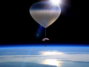 Uzayın Kıyısında Dünya & Uzay Kanvas Tablo