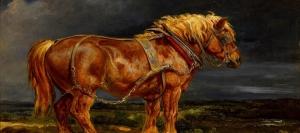 Uzun Yeleli At 2 Hayvanlar Yagli Boya Canvas Tablo
