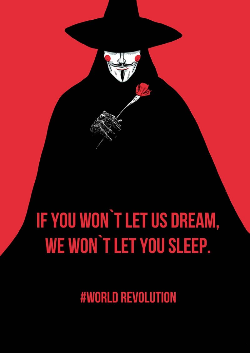 V For Vendetta Afiş Kanvas Tablo