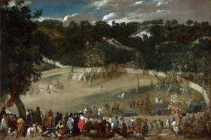 Vahşi Domuz Avı, Diego Velazquez, Philip IV Hunting Wild Boar, Klsaik Sanat Kanvas Tablo