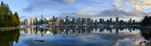 Vancouver Panaromik Kanvas Tablo