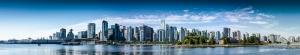 Vancouver Panorama Panaromik Dünyaca Ünlü Şehirler Kanvas Tablo