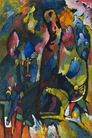 Vasily Kandinsky Edwin Icin Panel 5 Yagli Boya Klasik Sanat Kanvas Tablo