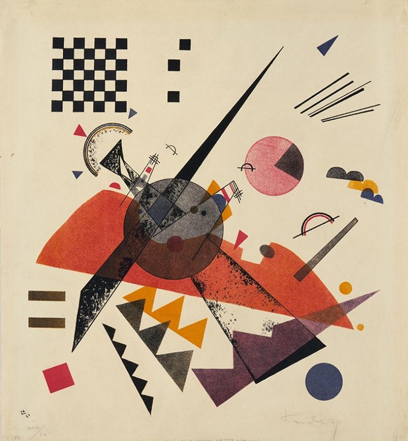Vasily Kandinsky Orange Yağlı Boya Sanat Kanvas Tablo