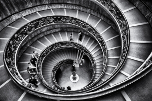 Vatican Siyah Beyaz Fotoğraf Kanvas Tablo