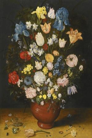 Vazo İçinde Çiçekler 15 İç Mekan Dekoratif Modern Kanvas Tablo