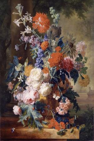 Vazo İçinde Çiçekler 18 İç Mekan Dekoratif Modern Kanvas Tablo