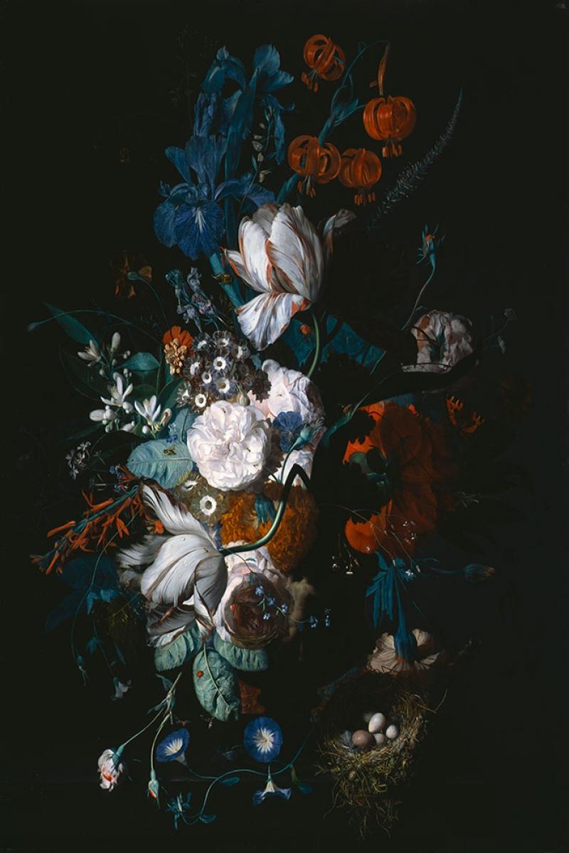 Vazo İçinde Çiçekler 19 İç Mekan Dekoratif Modern Kanvas Tablo