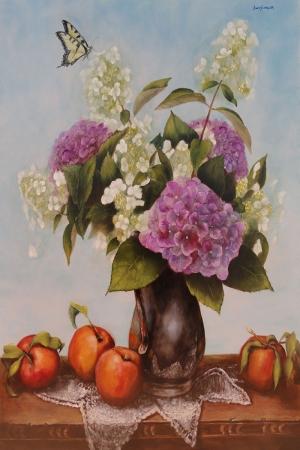 Vazo İçinde Çiçekler 20 Van Gogh, Renkli Çiçekler Klasik Sanat Kanvas Tablo