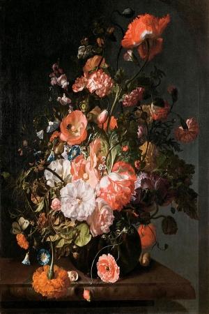 Vazo İçinde Çiçekler 23 İç Mekan Dekoratif Modern Kanvas Tablo