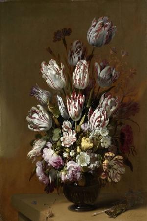 Vazo İçinde Çiçekler 24 İç Mekan Dekoratif Modern Kanvas Tablo