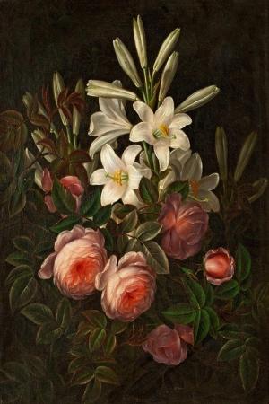 Vazo İçinde Çiçekler 25 İç Mekan Dekoratif Modern Kanvas Tablo