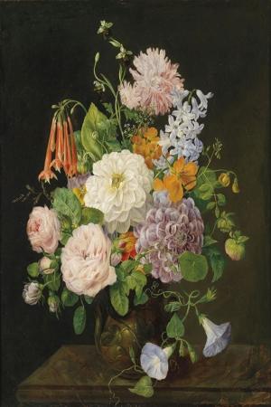 Vazo İçinde Çiçekler 28 İç Mekan Dekoratif Modern Kanvas Tablo
