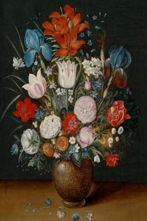 Vazo İçinde Çiçekler 32 İç Mekan Dekoratif Modern Kanvas Tablo
