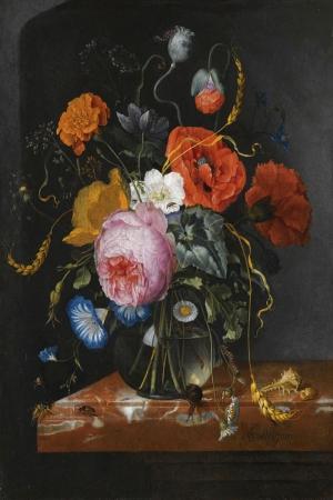 Vazo İçinde Çiçekler 33 İç Mekan Dekoratif Modern Kanvas Tablo
